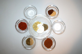 02 - Zutaten Fajita-Gewürzmischung / Ingredient fajita seasoning mix