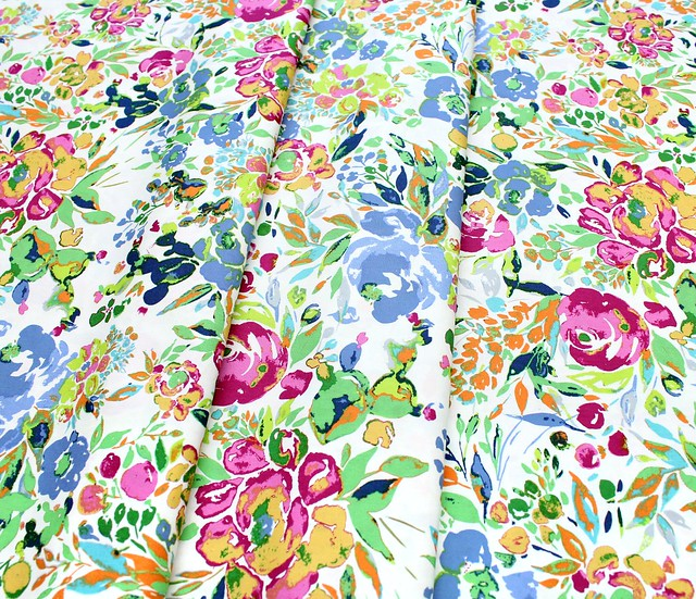 Art Gallery Fabrics Indigo & Aster La Floraison Lit