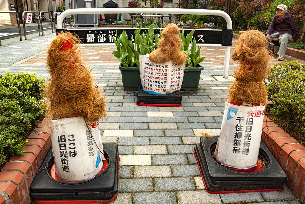 Decorated traffic cones--Tokyo