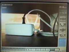 Testbeeld JVC camera onder een kast bij zeer weinig licht.