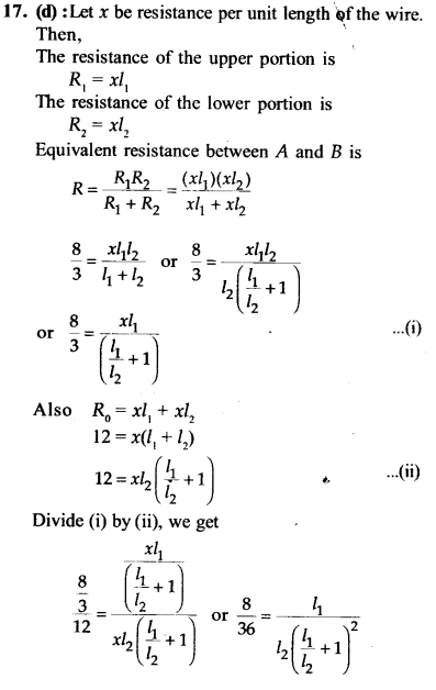 NEET AIPMT Physics Chapter Wise Solutions - Current Electricity explanation 17