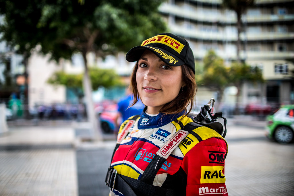 FERNANDEZ Sara, Team rallye spain, Peugeot 208 R2, portrait during the 2018 European Rally Championship ERC Rally Islas Canarias, El Corte Inglés,  from May 3 to 5, at Las Palmas, Spain - Photo Thomas Fenetre / DPPI
