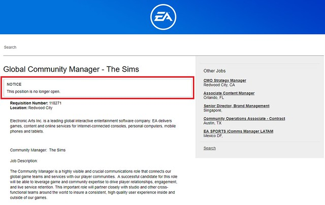 EA Encontrou Novo Community Manager para o The Sims