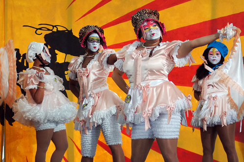New Orleans Baby Doll Ladies at Jazz Fest 2018. Photo by Bill Sasser.