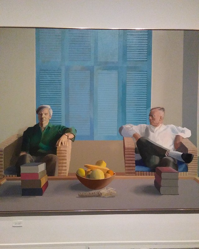 Detail, Christopher Isherwood and Don Bachardy (1968) #newyorkcity #newyork #manhattan #metmuseum #davidhockney #hockney #christopherisherwood #donbachardy #latergram