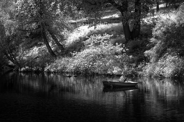 Fisherman, Winkworth Arboretum., Fujifilm X-Pro1, XF55-200mmF3.5-4.8 R LM OIS