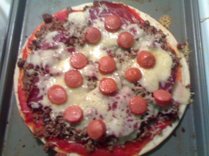 Homemade Pizza After the Oven