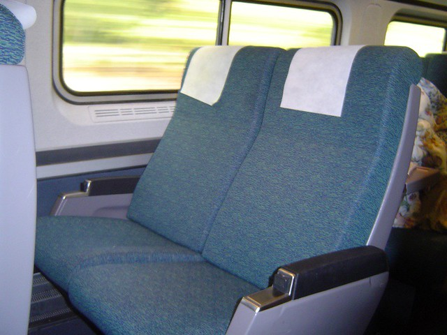 seats on amtrak coach flickr photo sharing
