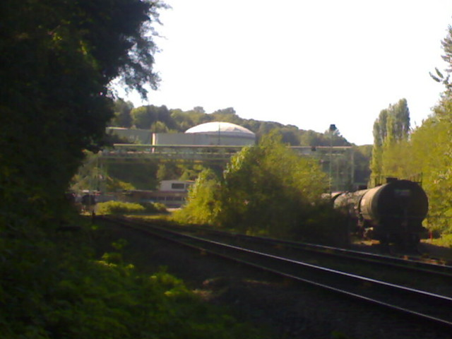 Chevron Refinery in Burnaby Next to Train Tracks