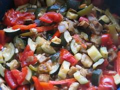 panzanella, salad, vegetable, food, dish, caponata, cuisine, ratatouille,