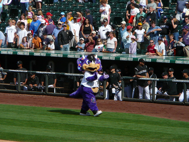 Coors Field, Denver, mascot from Flickr via Wylio
