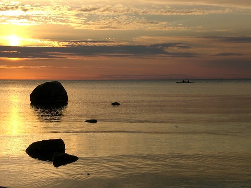 sunset nature rocks michigan sturgeonbay