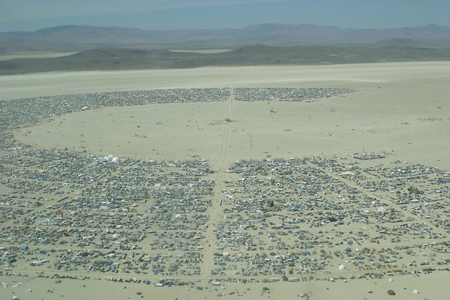 Annotated Black Rock City from Above (2006)