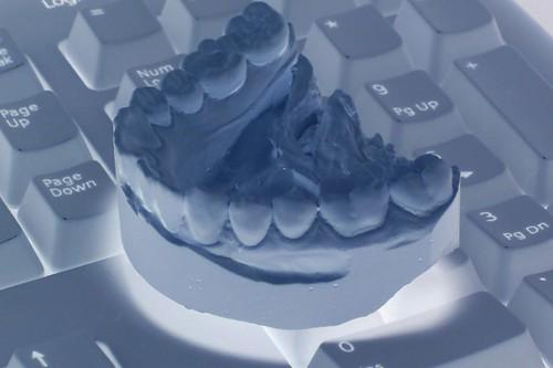 Lower jaw on keyboard