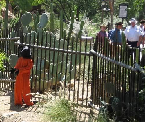 Banksy @ Disneyland   Banksy posted this Guantanamo inmate ...