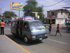 Minivan as bus
