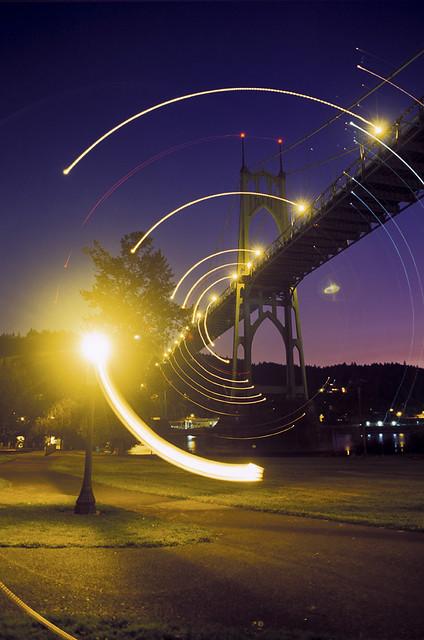 Orbiting the Bridge, Nikon FM2n