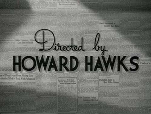 His Girl Friday Credits