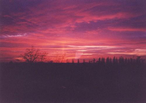 sunset sky nature clouds