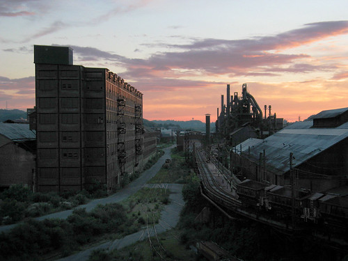Sunset on Bethlehem Steel