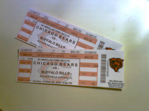 NFL BEARS TICKETS