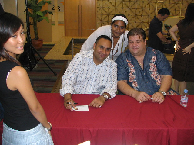 russell with russel peters and angelo his opening act singapore ...