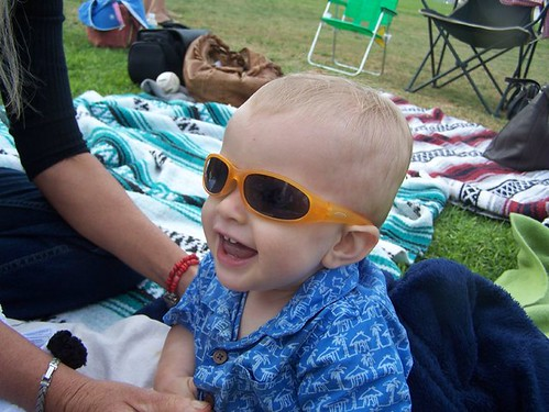 eabb26a128 ... Conrad likes his baby Oakleys