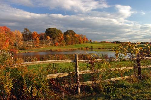fall fence landscape farm