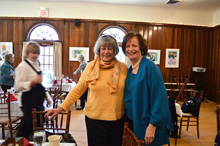 WCCP 2018AprilFundraising_0095_In-Coming Club President Kathy Hutchins and current Club President Florence Begun.