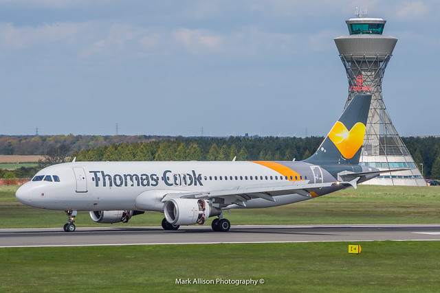 Thomas Cook A320 YL-LCO at Newcastle