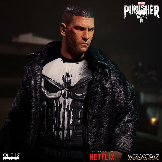 罰叔以影集版造型再登場!! MEZCO ONE:12 COLLECTIVE 系列《制裁者》制裁者 Punisher 1/12 比例人偶作品
