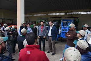 Wed, 05/09/2018 - 10:56 - Michael Baum, Program Director of ICARDA's Crop Improvement and Biodiversity Research Program, introduces visitors to the Marrchouch Research Station.