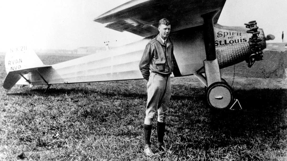 Charles A. Lindbergh and Sprit of St. Louis