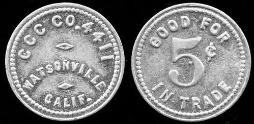 5 Cents CCC Token Watsonville, CA