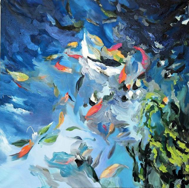 Les Affamés - 80x80 cm. Oil on canvas 2010