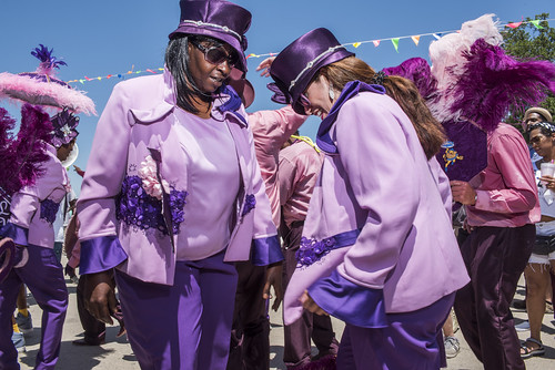Lady Buckjumpers during Jazz Fest Day 7 on May 5, 2018. Photo by Ryan Hodgson-Rigsbee RHRphoto.com