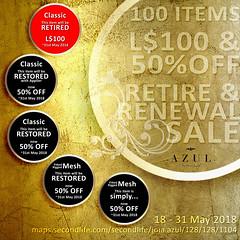 -AZUL- Retire&Renewal Sale