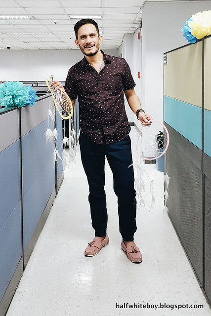 halfwhiteboy - micro floral shirt and pink shoes 05