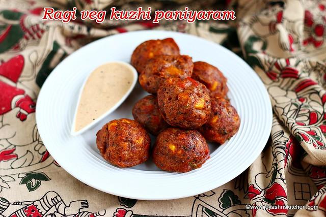 Ragi veg kuzhi paniyaram