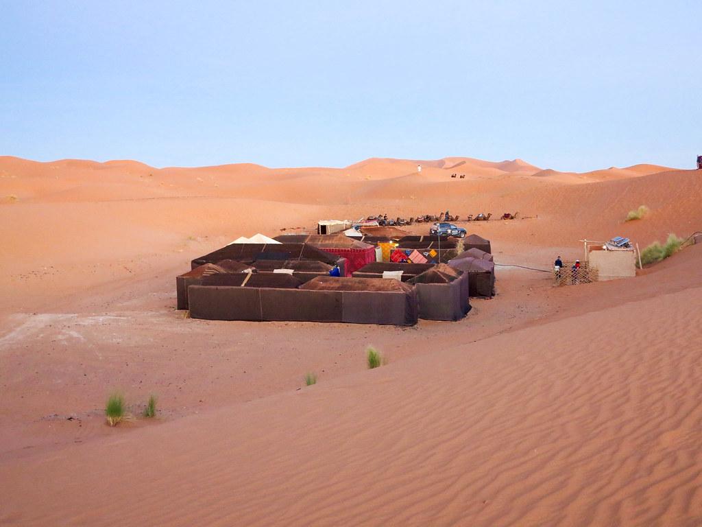 Campamento de jaimas en Merzouga