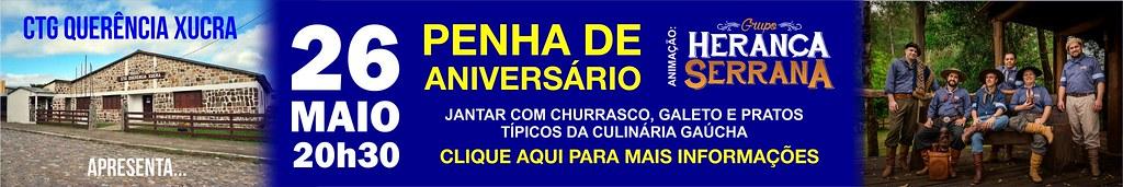 26-05 - Penha de Aniversário Querência Xucra - Baile com Herança Serrana