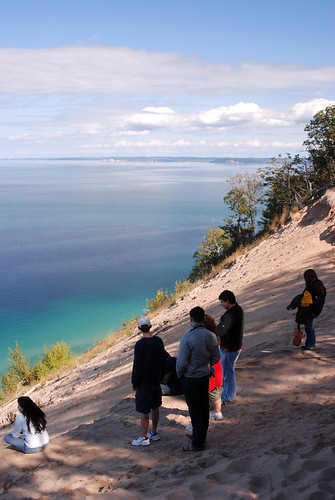 Visitors at Pyramid Point, Sleeping Bear Dunes. From What Do You Know About America's National Parks?