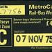 ticket - wypte rail+bus weekly metrocard 11-75