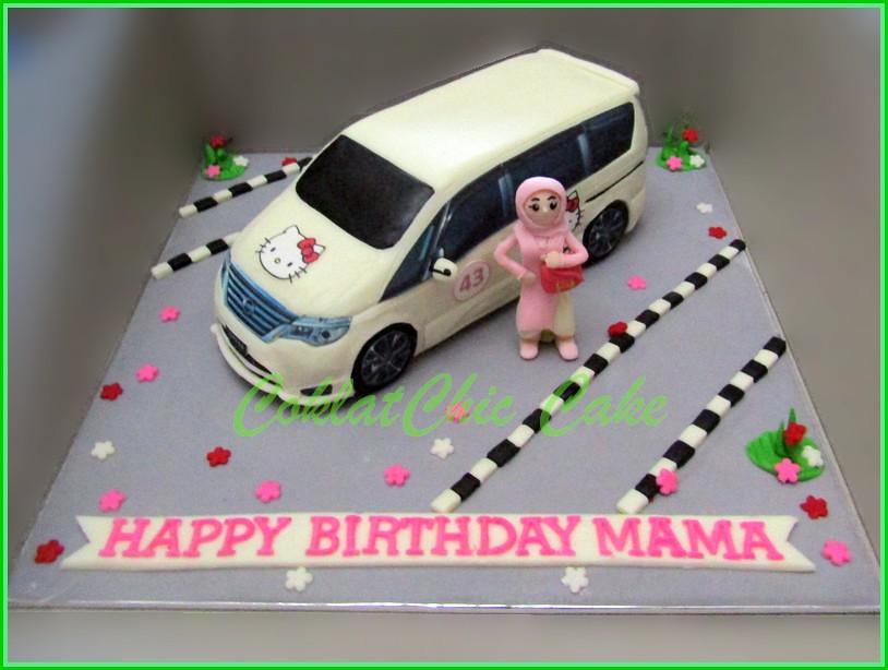 Cake Nissan Serena MAMA 22 cm