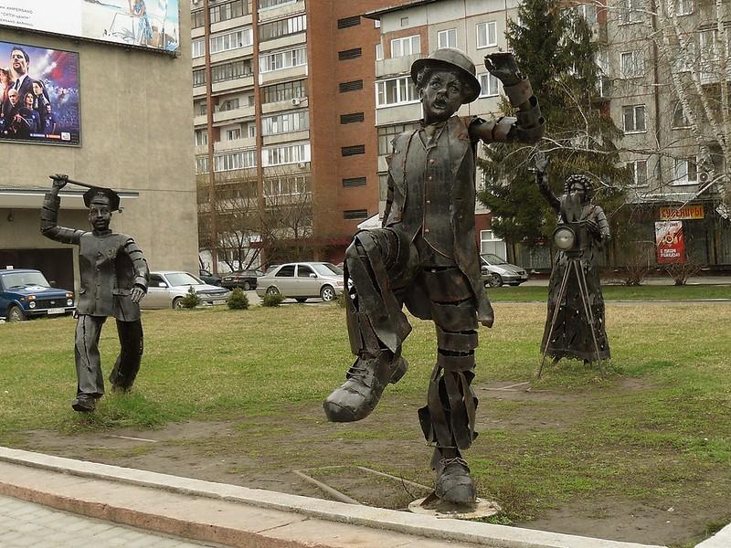 Барнаул, скульптурная композиция.