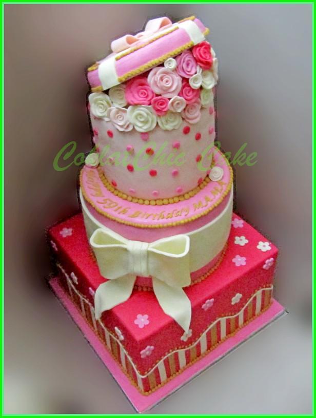 Cake Flowers 3 tingkat MAMA 30/24/18 cm