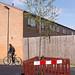 new tree & cyclist - walthamstow