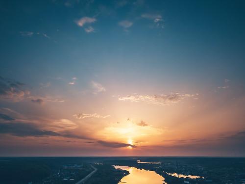 sunlight city kaunas river nemunas water reflection sunset sun evening europe lietuva lithuania dronas 2018 djieurope drone aerialphotography dji djimavicpro mavic pro mavicpro birdseye djiglobal 365days 3652018 365 project365 120365