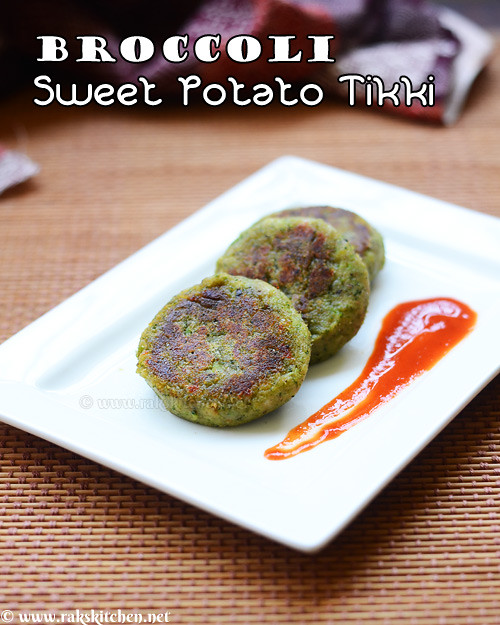 Sweet potato broccoli tikki
