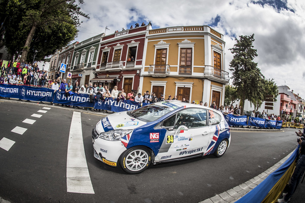 34 MUNNINGS Catie, STEIN Anne Katharina, Sainteloc junior Team, Peugeot 208 R2, action during the 2018 European Rally Championship ERC Rally Islas Canarias, El Corte Inglés,  from May 3 to 5, at Las Palmas, Spain - Photo Gregory Lenormand / DPPI